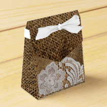 rustic wedding country burlap lace wedding favor box