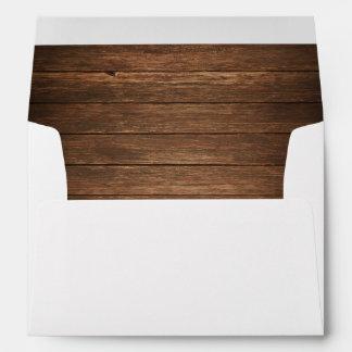 Rustic Wedding Envelopes