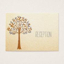 Rustic Wedding, fall wedding reception invite