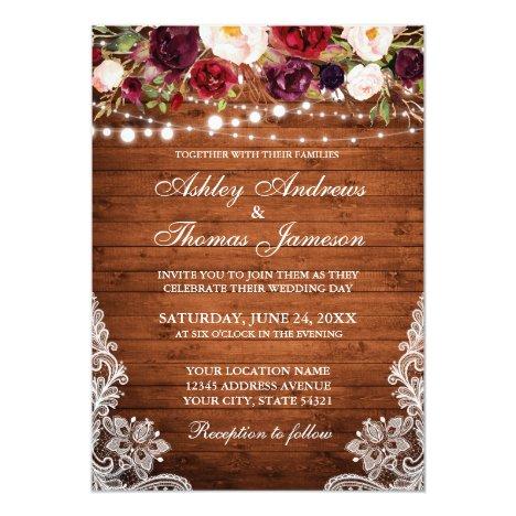 Wood Invite