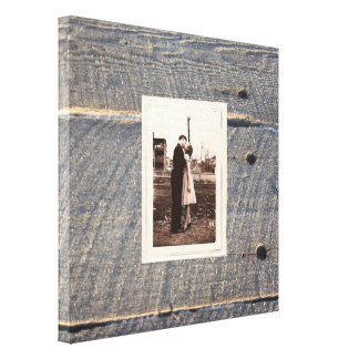 rustic wedding gray barn wood country wedding stretched canvas prints