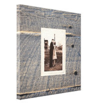 rustic wedding gray barn wood country wedding canvas print