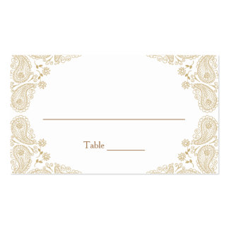 Rustic Wedding I Paisley Table Assignment Card