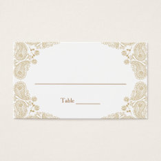Rustic Wedding I Paisley Table Assignment Card at Zazzle