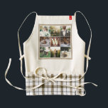 """Rustic Wedding Instagram Photo Grid Wood Burlap Zazzle HEART Apron<br><div class=""""desc"""">Display your favorite Rustic Wedding photos in this simple, elegant square photo grid design with natural burlap and reclaimed wood texture background. Suggested images include: blushing bride with bouquet and flower garland, couple in wedding dress kissing on a park bench at sunset or in a field with wild grass or...</div>"""
