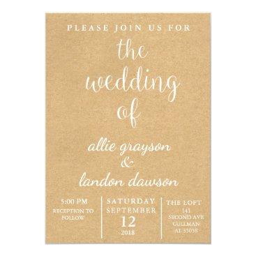 Beach Themed Rustic Wedding Invitation