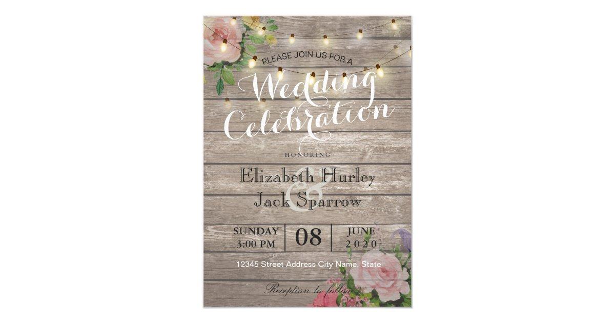 Wood Wedding Invitations & Announcements | Zazzle