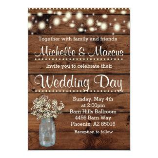 Rustic Wedding Invitation, Wedding Invitation