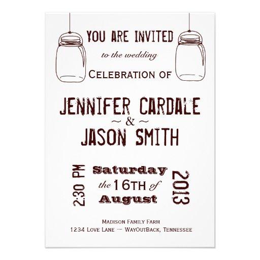 Personalized Redneck Wedding Invitations Custominvitations4u Com