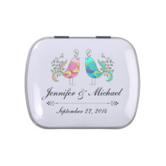 Rustic Wedding Lovebirds Candy Favor Tins Candy Tins at Zazzle
