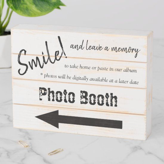 Rustic Wedding Photo Booth - Farmhouse Style Wooden Box Sign