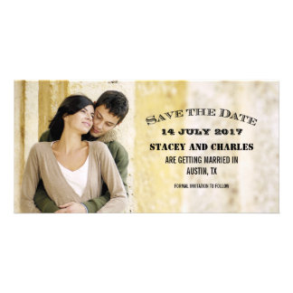 RUSTIC WEDDING PHOTO SAVE THE DATES PHOTO GREETING CARD