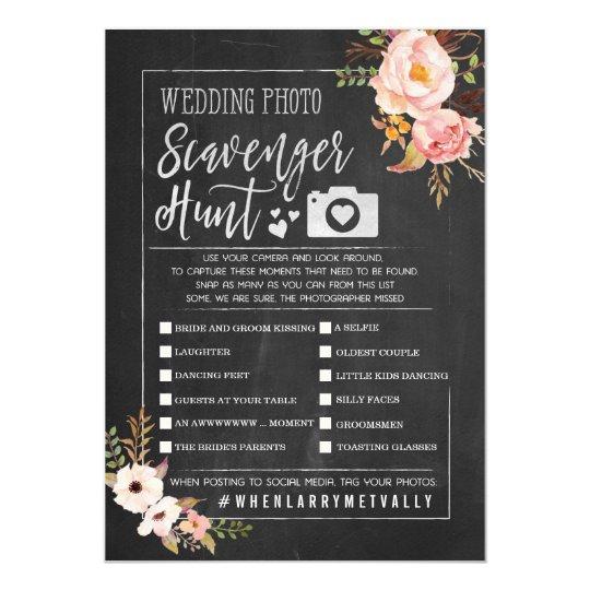 Rustic Wedding Photo Scavenger Hunt I Spy Invitation