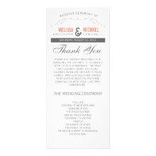 Rustic Wedding Program Custom Rack Cards