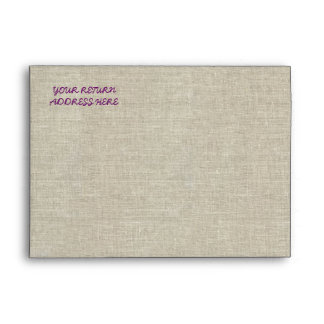 Rustic Wedding Purple Linen Lace Envelopes