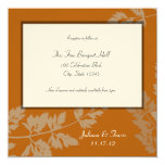 Rustic Wedding Reception Card Announcements