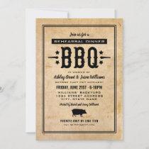 Rustic Wedding Rehearsal Dinner BBQ Invitation