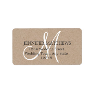 Rustic Wedding Reply Card Address Labels
