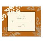 Rustic Wedding Response Card Custom Invitation