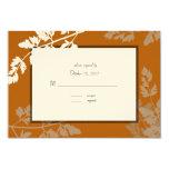 Rustic Wedding Response Card Custom Invitations