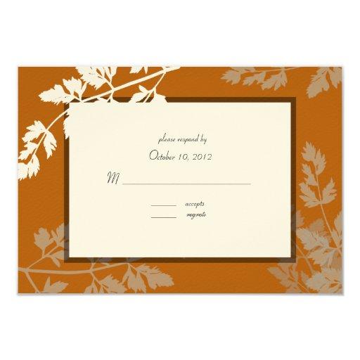 "Rustic Wedding Response Card 3.5"" X 5"" Invitation Card"