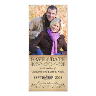 Rustic Wedding Save the Date Magnetic Photo Invite