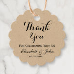 """Rustic Wedding Thank You Favor Tags<br><div class=""""desc"""">A rustic wedding favor tag. Easily change the text as desired to make ann elegant favor tag for your special day.  Choose the shape,  paper and type of twine from the options menu,  above.</div>"""