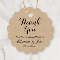 Rustic Wedding Thank You Favor Tags