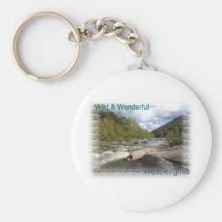 Rustic West Virginia River Basic Round Button Keychain