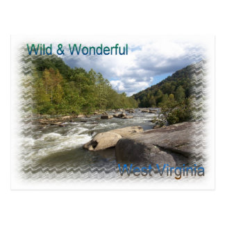 Rustic West Virginia River Postcard