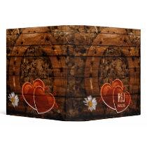Rustic Western Barn Wood Horseshoe Wedding Binder
