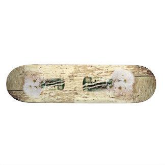 rustic western barn wood mason jar white daisy skateboard