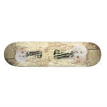 rustic western barn wood mason jar white daisy skateboard deck