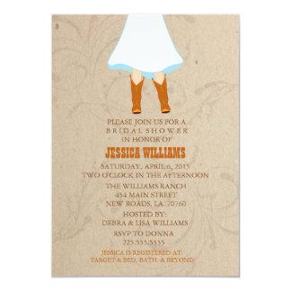 Rustic Western Bridal Shower Invitations