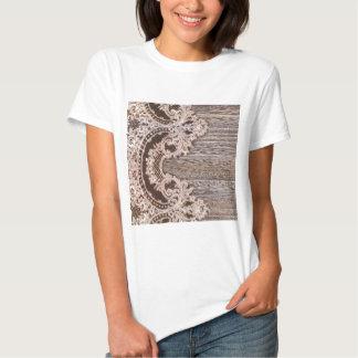 Rustic Western Country Barn Wood Bohemian lace T-Shirt