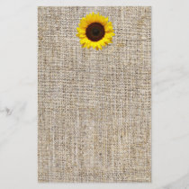 Rustic Western Country Burlap Sunflower Wedding