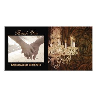 rustic western country chandelier wedding card