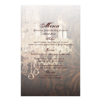 rustic western country chandelier wedding stationery