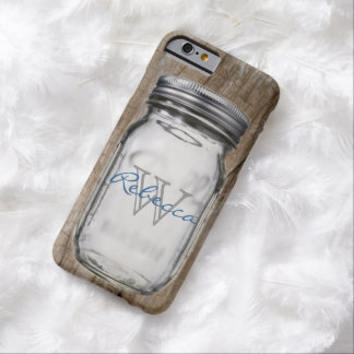 rustic western country chic customizable mason jar barely there iPhone 6 case