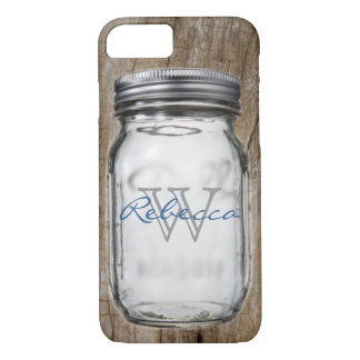 rustic western country chic customizable mason jar iPhone 7 case