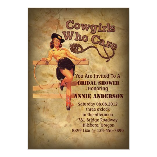 Rustic western country cowboy bachelorette party card
