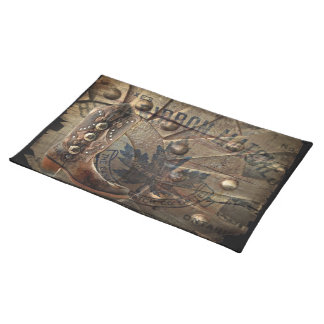 rustic western country cowboy boots barn wedding cloth place mat