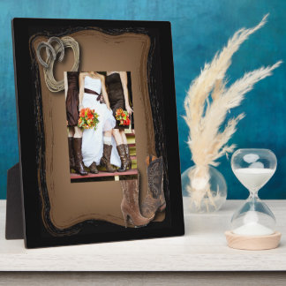 rustic western country cowboy wedding plaque