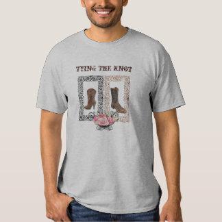 Rustic western country cowboy wedding T-Shirt