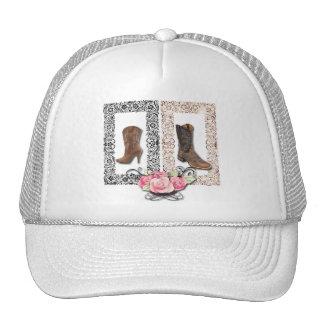 Rustic western country cowboy wedding trucker hat
