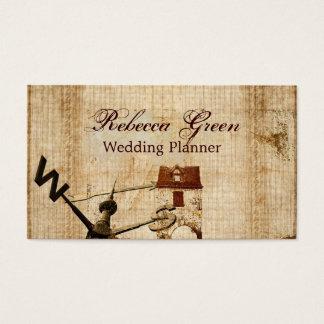 rustic western country farm barn wedding business card