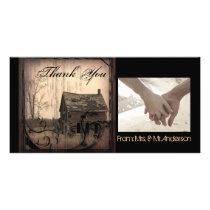 rustic western country farm barn wedding card