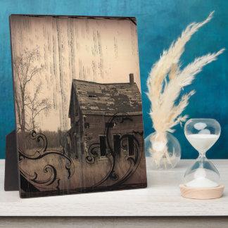 rustic western country farm barn wedding plaque