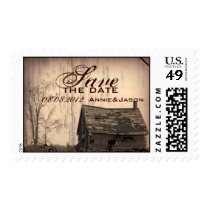 rustic western country farm barn wedding postage