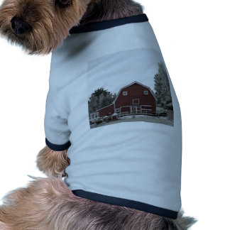 rustic western country farm landscape red barn dog clothing